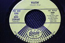 "PEE WEE KING & REDD STEWART 45rpm ""Waitin"" & ""Goodbye New Orleans"" Starday"