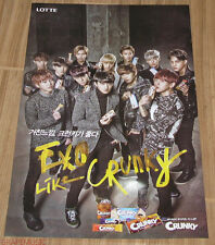 EXO LOTTE CRUNKY CHOCOLATE OFFICIAL PROMO POSTER NEW