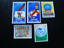 COTE D IVOIRE - timbre yvert et tellier n°476 477 n** 547 548 559 nsg (A10)stamp