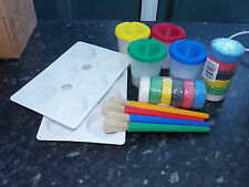 major brushes paints brush and water pot palettes art kit school craft kids club