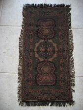 """Antique oblong Dutch Paisley cotton Tablecloth 17"""" x 36"""" 43 x91 cm"""