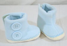 Mud Pie Fleece Button Booties Baby Blue Size 0 to 6 Months Infant Boots Shoes
