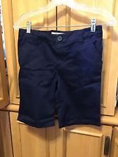 Lands End School Uniform Boy Shorts Plain Front Size 12 H Husky Classic Khaki