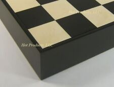 "16"" Black & Maple Wood Chess Storage Board Chest"