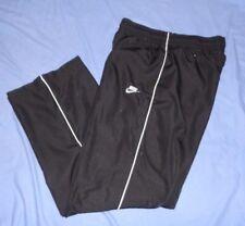 NIKE Black Mesh Lined Sport Athletic Basketball Track Pants MED