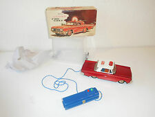Tin plate model from the 1960 /1970 made in China fire chief ME 702 RC