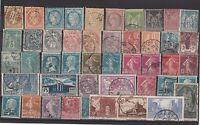 FRANCOBOLLI 1853/929 FRANCIA LOTTO FRANCOBOLLI USATI Z/4423