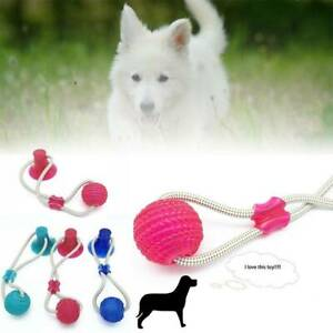 2019 100% ORIGINAL K% Super Strong Floor Suction Tugger Cup Dog Toy with Ball UK