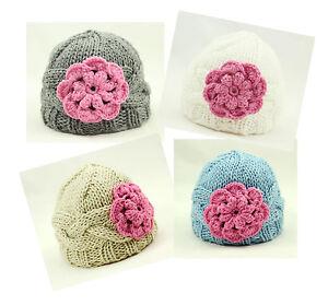 Knitted crochet flower Hat cap Beanies Newborn Baby Deep bonnet Photography Prop