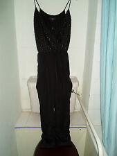 NEW TAG WAS £95 SIZE 6 MAY FIT 8/10 NEXT CHRISTMAS JUMP SUIT BUGLE BEADS + ZIPS