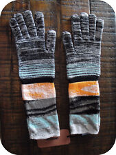 New Missoni Authentic gray multi M wool blend knitted mid length gloves $195