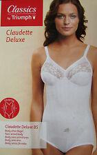 BODY GAINANT 120 B 46B blanc combiné sans armatures Claudette TRIUMPH femme NEUF