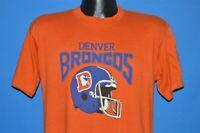 vintage 80s DENVER BRONCOS ORANGE BLUE HELMET SOFT NFL t-shirt FOOTBALL MEDIUM M