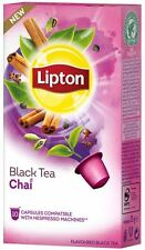 LIPTON Nespresso TEA 40 X Capsules /Pods/Caps (4 X Boxes) Black Tea Chai NEW