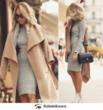 ZARA long camel wool handmade coat with belt sold out bloggers S Small