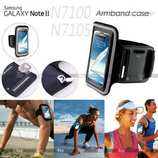 BLACK Running GYM Armband Case For Samsung Galaxy Note 2 II 4G N7100 N7105