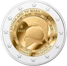1x 2 euro commémorative Grèce 2020 - Bataille de Thermopyle (neuve)