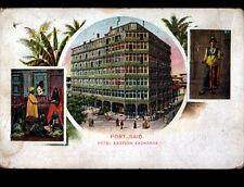 PORT SAID (EGYPTE) HOTEL EASTERN EXCHANGE animé avant 1904