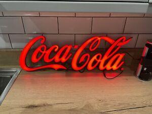 COCA COLA SIGN LED ADVERTISING LIGHT - BRAND NEW 65cm X 25cm Man Cave Home Bar