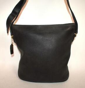 Authentic Vtg COACH Sonoma Black Leather Crossbody Bucket Shoulder Bag 4906