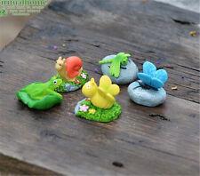 1pc Mini Animal & Stone Garden Ornament Micro Landscape Glass Fairy Decor Gift