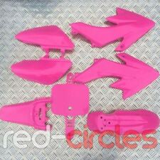 PINK CRF50 PIT BIKE PLASTIC SET 50cc 110cc 125cc PITBIKE - NO SEAT PAD