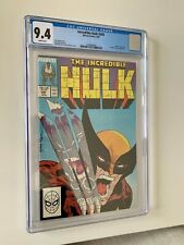 THE INCREDIBLE HULK #340 (CGC 9.4), Todd Mcfarlane Wolverine Cover, White Pages