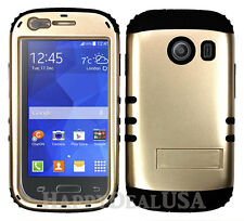 KoolKase Hybrid Cover Case for Samsung Galaxy Touch3 Stardust S766c - Light Gold