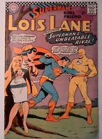 Superman Girlfriend Lois Lane #74 DC 1967 Comic Key 1st Appearance Bizarro Flash