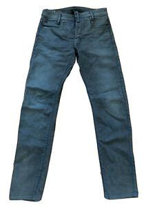 G-Star RAW Men's Blue Dark Aged D-staq 5 Pocket Slim Fit Jeans W30 L32