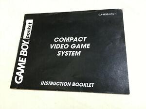 GAME BOY POCKET instruction booklet