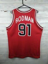 Rodman Chicago Bulls basketball jersey large shirt Champion