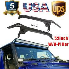 For 2018 Jeep Wrangler JL 52'' Light Bar Mounting Bracket With A-Pillar Offroad