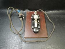 Vintage WWII German Military Telefunken Morse Code Telegraph Key