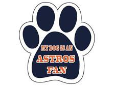 Houston Astros Car Magnet My Dog Is An Astros Fan Paw Animal Rescue Adopt A Pet*