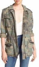 R2 Euc FREE PEOPLE NOT YOUR BROTHER'S SURPLUS CAMO JACKET Large Cargo Parka Coat