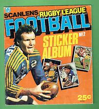 #T6. SET(172)  1984 SCANLENS RUGBY LEAGUE STICKERS & ALBUM