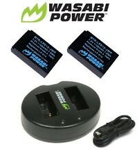 Wasabi Power Battery (2-Pack) and Dual USB Charger for Canon LP-E12,Canon LC-E12