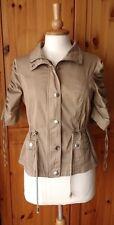 JANE NORMAN womens size UK10 cotton safari summer military jacket