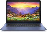 """NEW HP 14"""" Stream Intel N4000 2.6GHz 64GB SSD 4GB RAM Webcam Mic Windows 10 Blue"""