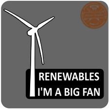 Yo soy un gran fan Pegatina turbinas eólicas coche eléctrico EV Pegatina Hoja de energías renovables Zoe