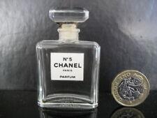 ORIGINAL VINTAGE COLLECTABLE NOVEL 7.5ml EMPTY CHANEL No 5 GLASS PERFUM BOTTLE