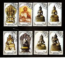 MONGOLIA 1988 BUDDHIST  sculpture ,figures STAMPS - USED COMPLETE SET OF 8