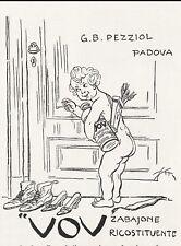PUBB.1922 VOV ZABAIONE RICOSTITUENTE G.B. PEZZIOL PADOVA CUPIDO AMORE EROS 10X15