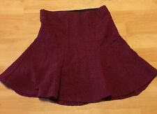 H&M Women Short Skirt Size S. Maroon Colour. Brand New With Tag