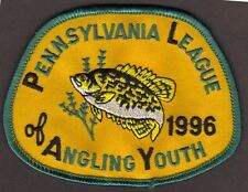 Pa Pennsylvania Fish Game Commission NEW 1996 Crappie Youth Fishing PLAY Patch