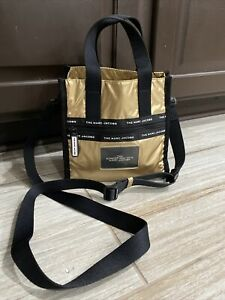 MARC JACOBS Ripstop Mini Tote Bag - Gold