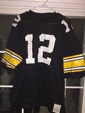 PITTSBURGH STEELERS # 12 Terry Bradshaw JERSEY SAND KNIT Xl Vntg 70s