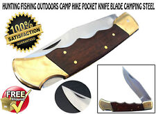 Pocket Knife Hunting Fishing Outdoors Camp Hike Survival blade camping steel