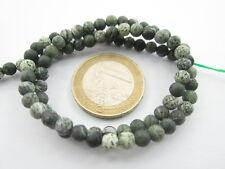 1 filo di perle cabochon opache in serpentino naturale di 4,5 mm lungo 40 cm